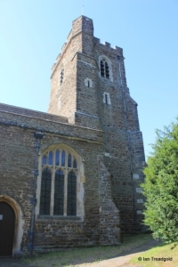 St Andrew parish church, Ampthill. Tower from the north east.