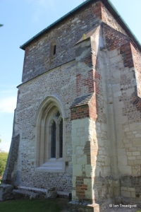 St Guthlac parish church, Astwick. Tower from the south-west.