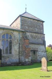St Guthlac parish church, Astwick. Tower north side.