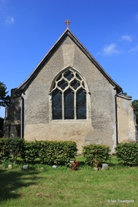 Arlesey, St Peter. East window.
