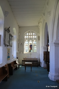 Arlesey, St Peter. North aisle altar