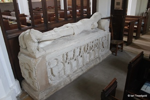 Apsley Guise, St Botolph. North aisle chapel monument.