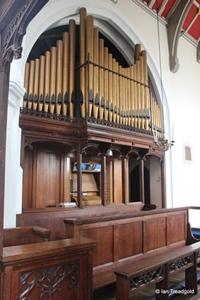 Apsley Guise, St Botolph. Organ loft.