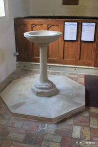 Southill - All Saints. Font.