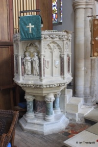 Cranfield - St Peter & St Paul. Pulpit.