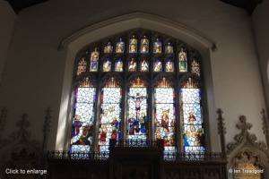 Cranfield - St Peter & St Paul. East window, internal.