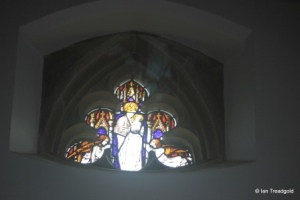 Cranfield - St Peter & St Paul. Internal stained glass.