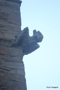 Biddenham, St James. Tower gargoyle.