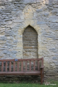 Biddenham, St James. Tower, blocked doorway.