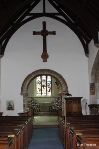 Biddenham, St James. Chancel arch.