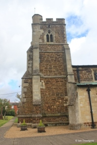 Stanbridge - St John the Baptist. Tower from the south.