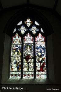 Biddenham - St James. Stained glass.