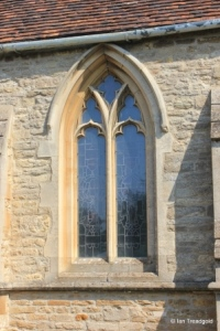 Bromham - St Owen. Chancel, south window.