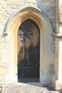 Bromham - St Owen. Chancel, priest's door.