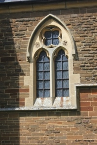 Steppingley - St Lawrence. Chancel south-west window.