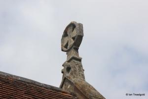 Billington, St Michael and All Angels. Chancel gable cross.