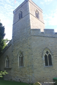 Stevington - St Mary. Tower from the south-west.