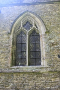 Stevington - St Mary. North aisle, north-west window.