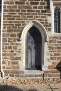 Stondon - All Saints. Chancel, priest's door.