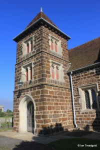 Stondon - All Saints. South porch and tower.