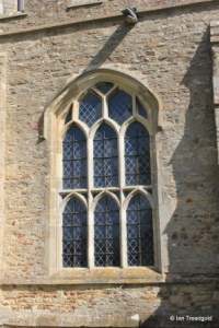 Bolnhurst - St Dunstan. South wall, south-west window.