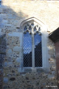 Streatley - St Margaret. South aisle, east window.