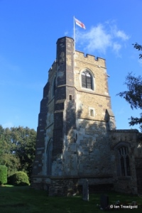 Streatley - St Margaret. Tower from the south-west.