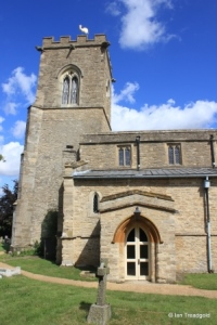 Carlton - St Mary the Virgin. South porch and tower.