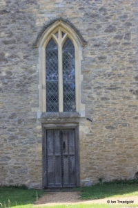 Carlton - St Mary the Virgin. West window and door.