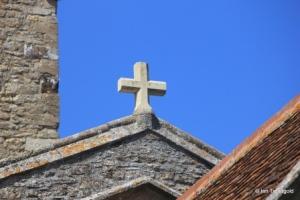 Carlton - St Mary the Virgin. Nave gable cross.