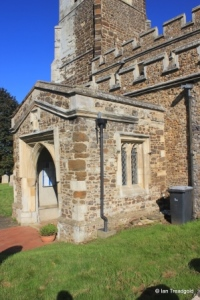 Sutton - All Saints. South porch.
