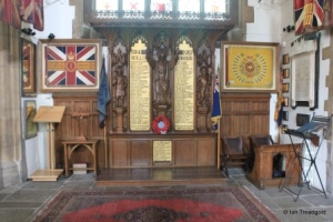 Bedford - St Paul. North aisle, regimental memorials.