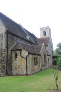 Bedford - St John the Baptist. Vestry and north side from the north-east.