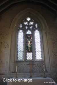 Swineshead - St Nicholas. East window internal.