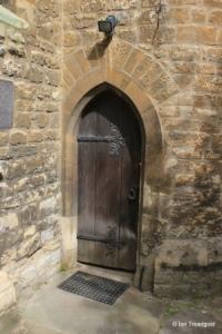 Bedford - St Peter de Merton. Stair turret door.