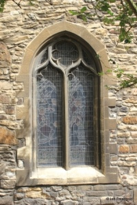 Bedford, St Peter. Chancel, south-west window.