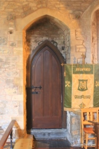Bedford - St Peter de Merton. Priest's door internal.