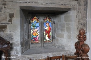 Biggleswade - St Andrew. Chancel low window internal.
