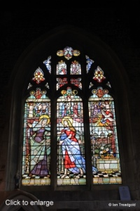 Biggleswade - St Andrew. South aisle, south-west window internal.