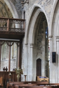 Biggleswade - St Andrew. Rood screen and stair.
