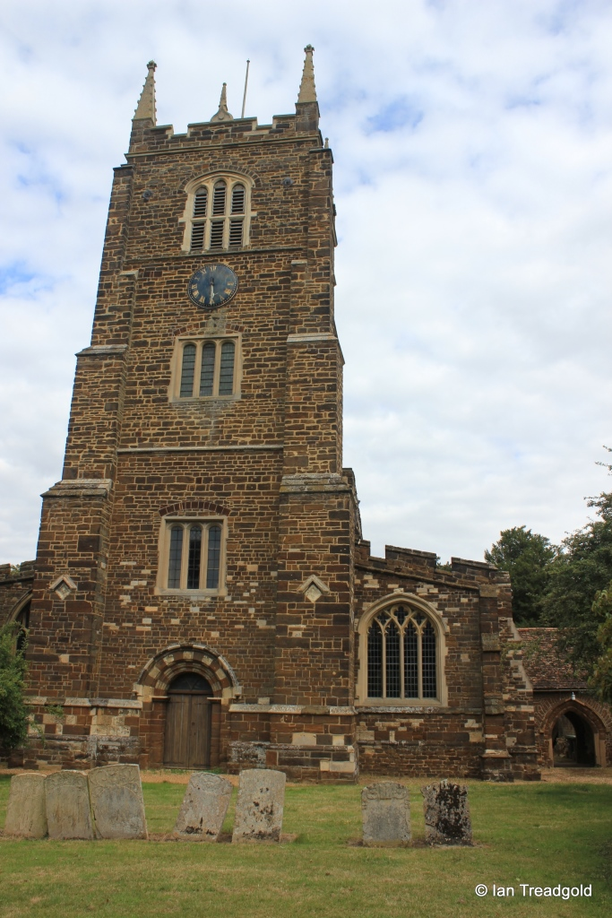 Blunham, St Edmund or St James. Tower from west.