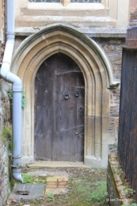 Blunham, St Edmund or St James. Chancel, priest's door.