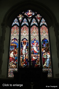 Blunham, St Edmund or St James. East window internal.