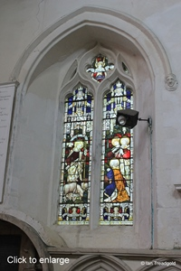 Blunham, St Edmund or St James. Chancel, south window internal.