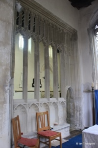 Blunham, St Edmund or St James. South chapel screen.