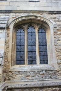 Cople - All Saints. South chapel, south window.