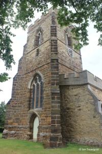 Cople - All Saints. West tower.
