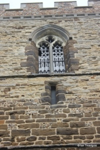 Cople - All Saints. West tower, west belfry light.