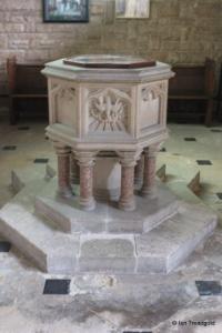 Cardington - St Mary. Font.
