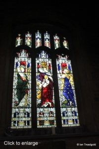 Cardington - St Mary. South aisle, south-west window internal.